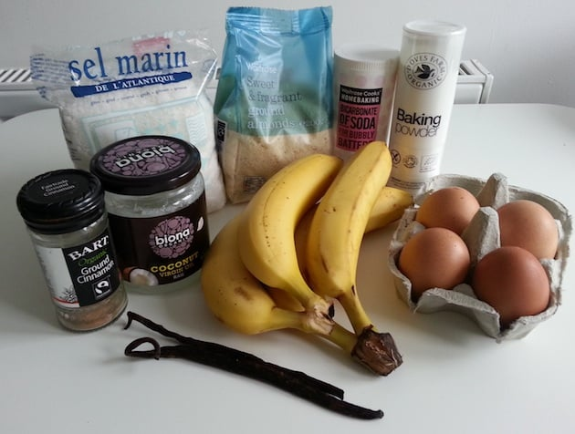Ingredients banana bread