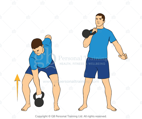 Kettlebell Clean Exercise