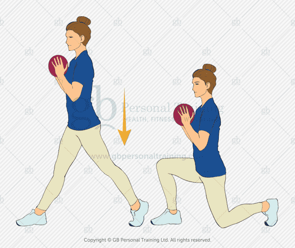 Medicine Ball Static Lunge Exercise