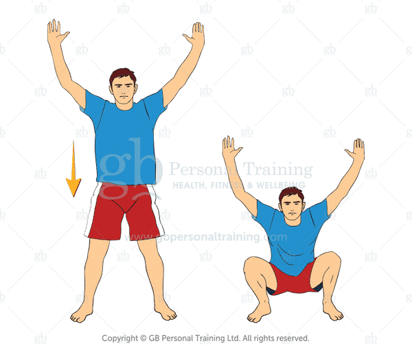 Bodyweight Y Squats Exercise