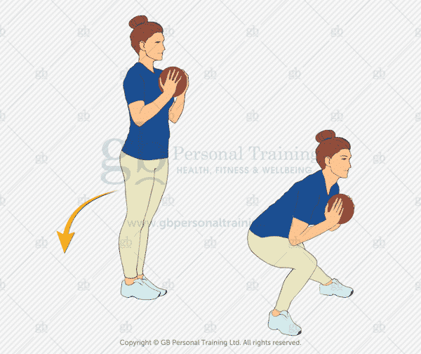 Medicine Ball Side Lunge Exercise