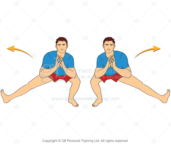 Cossack Bodyweight Exercise for opening the hips