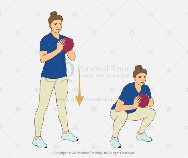 Medicine Ball Squat Exercise