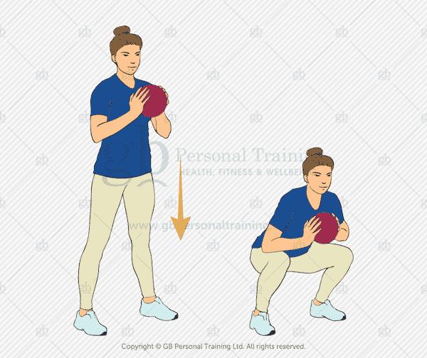 Medicine Ball Squat Exercise