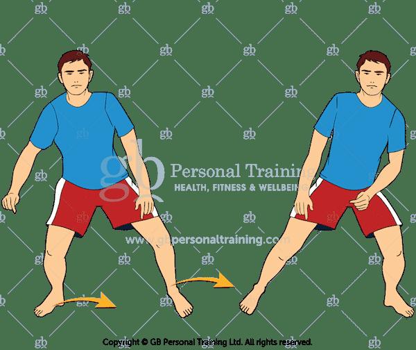 Side Shuffles Cardio Exercise