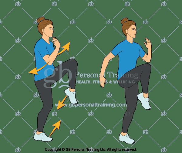 High Knees Cardio Exercise