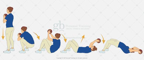Medicine Ball Deck Squat Exercise