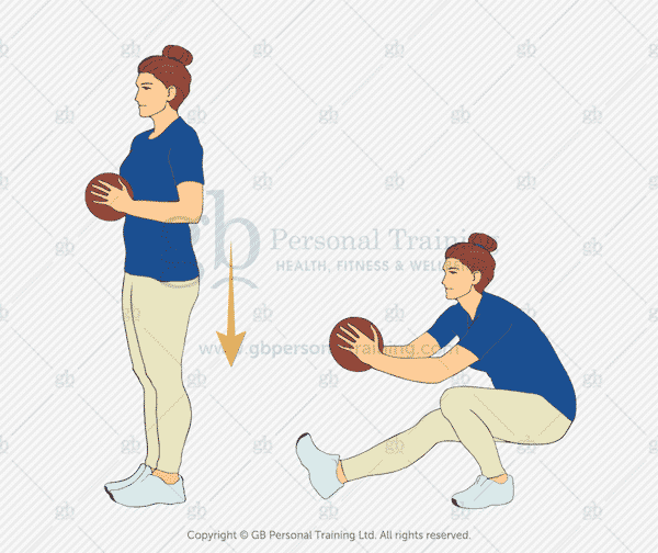 Medicine Ball Pistol Squat Exercise