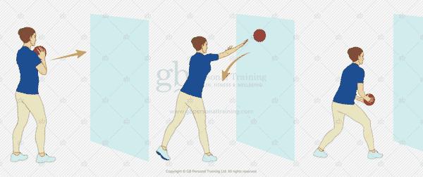 Medicine Ball Chest Pass Exercise