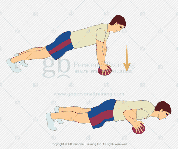 Medicine Ball Push Up Exercise
