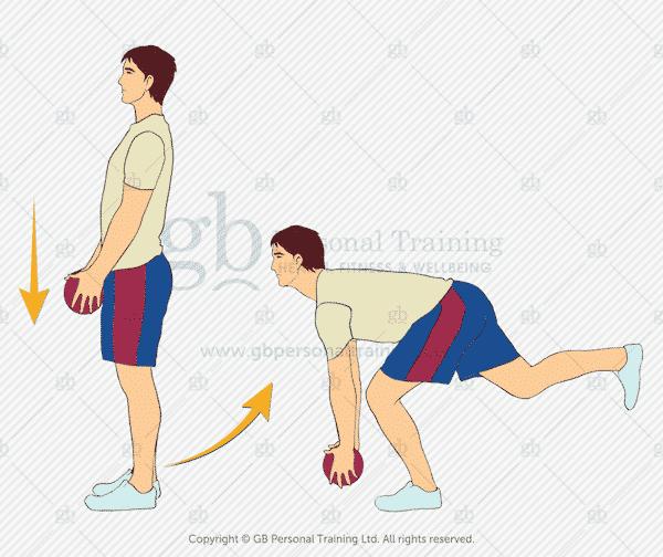 Medicine Ball Single Leg Deadlift Exercise
