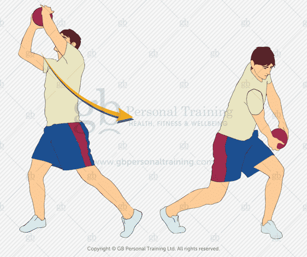 Medicine Ball Downwards Diagonal Chop Exercise