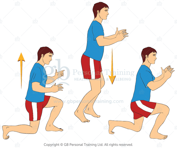 Jumping Lunges Cardio Exercise