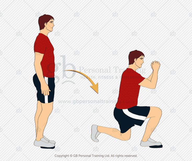 Valslide Forward Lunge Exercise