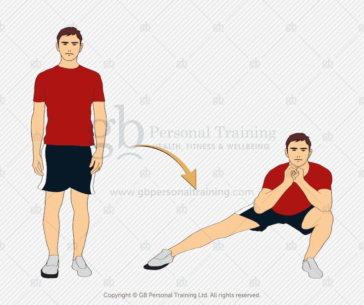 Valslide Side Lunge Exercise