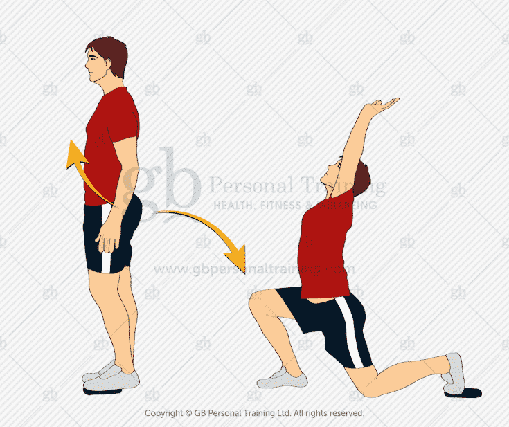 Valslide Reverse Lunge with Overhead Reach