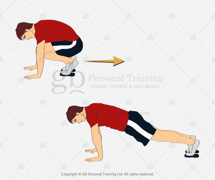 Valslide Squat Thrust Exercise