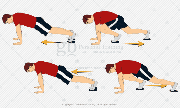 Valslide Slow Mountain Climbers Exercise