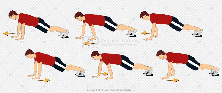 Valslide Aligator Walk Exercise